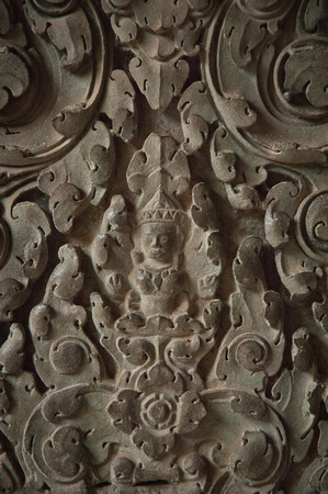 Angkor Wat wall carvings